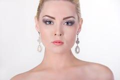 Portret piękna dziewczyna blondynka Zdjęcie Royalty Free