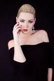 Portret piękna dziewczyna blondynka Zdjęcie Stock