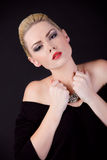 Portret piękna dziewczyna blondynka Obrazy Royalty Free