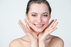 Portret piękna dziewczyny twarz Fotografia Stock