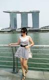 Portret piękna kobieta w Singapur fotografia stock