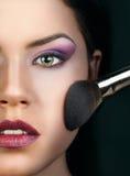 Portret piękna kobieta z makeup Zdjęcia Royalty Free