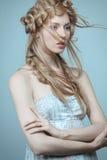 Portret piękna kobieta z makeup i Obrazy Stock