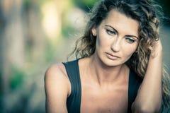 Portret piękna smutna dziewczyna Obrazy Royalty Free