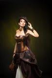 Portret piękna steampunk kobieta Zdjęcia Stock