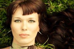 Portret piękne kobiety fotografia stock