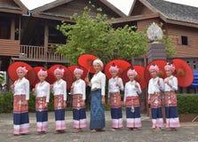 Portret piękne kobiety Tai Lue Fotografia Stock