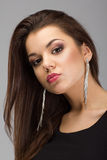 Portret piękny brunetki woma Obraz Royalty Free
