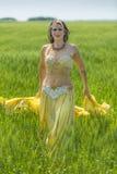 Portret piękny brzucha tancerz Obraz Stock