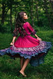 Portret piękny dziewczyny gypsy Zdjęcia Stock