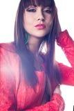 Portret piękny kobieta model. Mody fotografia Fotografia Stock