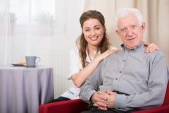 Portret pielęgniarka i oddział Obraz Stock