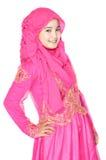 Portret piękna muzułmańska kobieta Zdjęcie Stock