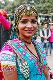 PORTRET PLEMIENNY tancerz, UDAIPUR okręg, RAJASTHAN, INDIA Zdjęcia Stock