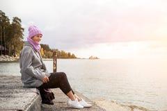 Portret plenerowa atmosferyczna styl życia fotografia zdjęcie stock