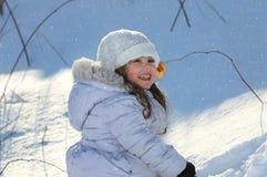 Portret plenerowy podczas zimy dziecko obraz stock