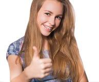 Portret pokazuje stomatologicznych brasy nastoletnia dziewczyna Obraz Stock
