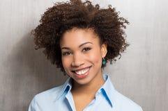 Szczęśliwa Biznesowa kobieta obraz stock