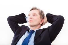 Portret pomyślny biznesowego mężczyzna ono uśmiecha się Obraz Stock