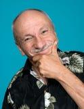 Portret pomyślny starsza osoba mężczyzna Obraz Royalty Free