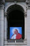 Portret Pope John Paul II na bazylice Zdjęcia Stock