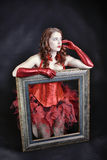 Portret portret piękna kobieta Obraz Stock