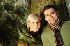 Portret potomstw para w świetle słonecznym Obraz Royalty Free