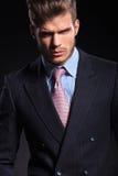 Portret poważny młody moda biznesowy mężczyzna Obraz Stock