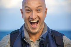 Portret pozytywny męski podróżnik obraz stock