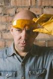 Portret pracownik budowlany Obrazy Stock