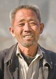 Portret pracownik migrujący w Pekin, Chiny obraz royalty free