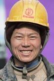 Portret pracownik migrujący w Pekin, Chiny Fotografia Royalty Free