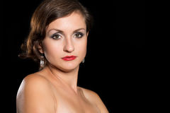 portret pretty woman Obrazy Royalty Free