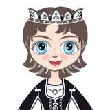 Portret princess avatars Zdjęcie Stock