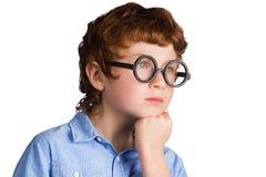 Portret przystojna rozważna chłopiec Obrazy Royalty Free
