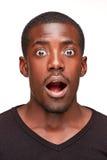 Portret przystojny młody czarnego afrykanina ono uśmiecha się Zdjęcia Royalty Free