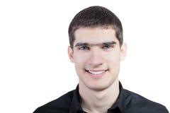 Portret przystojny młody uśmiechnięty mężczyzna Obrazy Stock