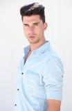 Portret przystojny męski moda model Fotografia Stock