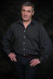 Portret przystojny poważny starszy mężczyzna Zdjęcie Royalty Free