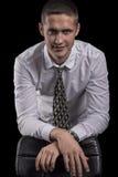 Portret pomysłowo i pomyślny młody człowiek Obraz Stock