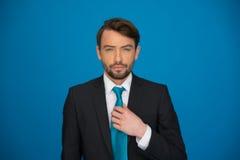Portret przystojny ufny biznesowy mężczyzna Obraz Stock