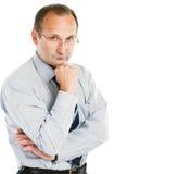 Portret psycholog - konsultant na białym tle obrazy royalty free