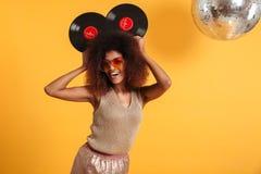 Portret radosna afro amerykańska kobieta Obraz Royalty Free