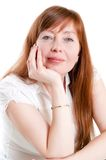 Portret of red-haired woman Stock Photos