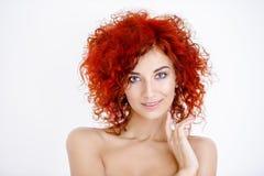 Portret redhair dziewczyna