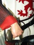 portret średniowieczny rycerz Zdjęcia Royalty Free