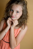 Portret 8 roczniaka dziewczyna Obraz Stock