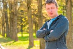 Portret 30 roczniaka trener w sporty nadaje się Zdjęcia Stock