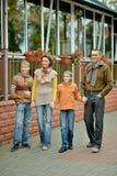 Portret rodzinny relaksować Zdjęcia Stock