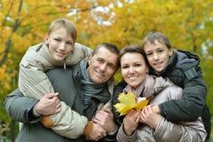 Portret rodzinny relaksować Zdjęcie Royalty Free